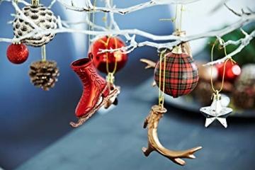 HEITMANN DECO 31er Set Christbaumkugeln Sortiment - Weihnachtsschmuck zum Aufhängen - Kunststoff Christbaumschmuck rot Natur Silber - 2