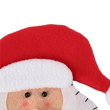 HENGSONG 4 Stücke Weihnachtsmann Weihnachten Deko Bestecktasche Besteckbeutel Besteckhalter für Weihnachten - 4