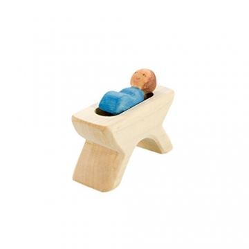 Holzspielwaren Ackermann Weihnachtskrippe aus Holz – 16 Krippenfiguren inkl. Krippenstall, aus Schwäbischer Handarbeit (100% ökologisch) - 3