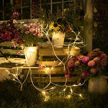 Hypestar Dekorative Lichterkette, LED Licht, 144 LEDs Lichterzweige Stern Wand Dekoration Schlafzimmer Innendekoration Außen Weihnachten (Batteriebetrieben) - 2