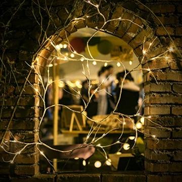 Hypestar Dekorative Lichterkette, LED Licht, 144 LEDs Lichterzweige Stern Wand Dekoration Schlafzimmer Innendekoration Außen Weihnachten (Batteriebetrieben) - 3