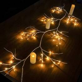 Hypestar Dekorative Lichterkette, LED Licht, 144 LEDs Lichterzweige Stern Wand Dekoration Schlafzimmer Innendekoration Außen Weihnachten (Batteriebetrieben) - 1