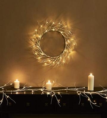 Hypestar Dekorative Lichterkette, LED Licht, 144 LEDs Lichterzweige Stern Wand Dekoration Schlafzimmer Innendekoration Außen Weihnachten (Batteriebetrieben) - 5