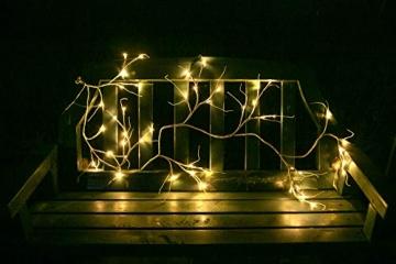 Hypestar Dekorative Lichterkette, LED Licht, 144 LEDs Lichterzweige Stern Wand Dekoration Schlafzimmer Innendekoration Außen Weihnachten (Batteriebetrieben) - 7