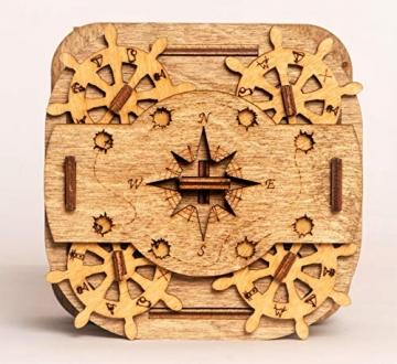 iDventure Cluebox - Davy Jones Locker - Escape Room Spiel - kniffeliges 3D Holzpuzzel Rätsel - einzigartige Knobelspiele - Escape Box Spiele Für Erwachsene und Rätselbox für Kinder - 2
