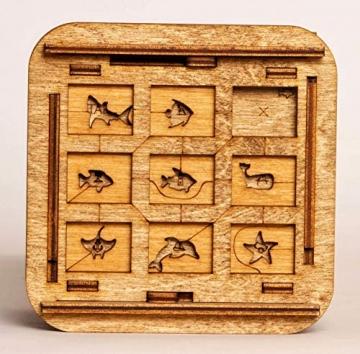 iDventure Cluebox - Davy Jones Locker - Escape Room Spiel - kniffeliges 3D Holzpuzzel Rätsel - einzigartige Knobelspiele - Escape Box Spiele Für Erwachsene und Rätselbox für Kinder - 3