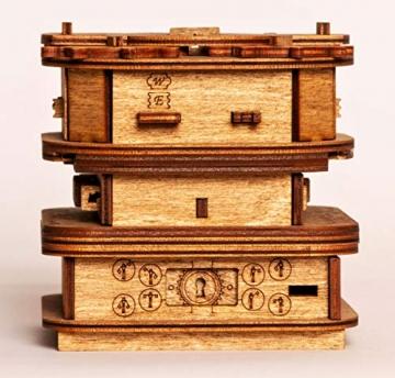 iDventure Cluebox - Davy Jones Locker - Escape Room Spiel - kniffeliges 3D Holzpuzzel Rätsel - einzigartige Knobelspiele - Escape Box Spiele Für Erwachsene und Rätselbox für Kinder - 4