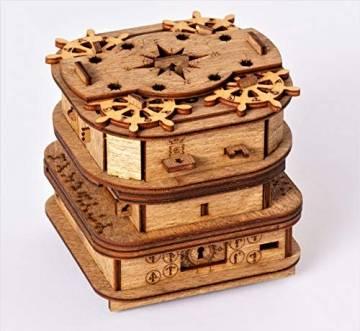 iDventure Cluebox - Davy Jones Locker - Escape Room Spiel - kniffeliges 3D Holzpuzzel Rätsel - einzigartige Knobelspiele - Escape Box Spiele Für Erwachsene und Rätselbox für Kinder - 1