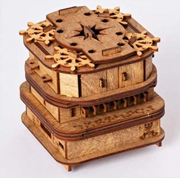 iDventure Cluebox - Davy Jones Locker - Escape Room Spiel - kniffeliges 3D Holzpuzzel Rätsel - einzigartige Knobelspiele - Escape Box Spiele Für Erwachsene und Rätselbox für Kinder - 5