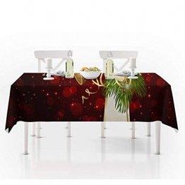 JUNGEN Weihnachts Tischdecke Glocke Drucken Tischtuch Weihnachtsdekoration für Küche Esszimmer Tischdecke Dekorationen Christmas Table - 1