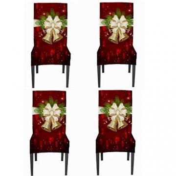 JUNGEN Weihnachts Tischdecke Glocke Drucken Tischtuch Weihnachtsdekoration für Küche Esszimmer Tischdecke Dekorationen Christmas Table - 7
