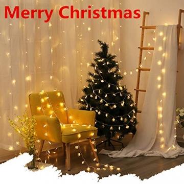 Kailedi Weihnachtslichter, 40 LED-Schneeflocken-Lichterkette für Zuhause, Party, Weihnachten, Hochzeit, Garten, Terrasse, Schlafzimmer, Dekoration, Innen- und Außenbereich - 7