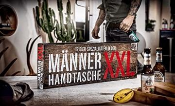 KALEA Männerhandtasche XXL, 12 Biere von Privatbrauereien, hochwertig bedruckter Karton mit Tragegriff, Biergeschenk für Männer und Frauen - 2