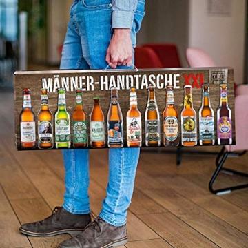 KALEA Männerhandtasche XXL, 12 Biere von Privatbrauereien, hochwertig bedruckter Karton mit Tragegriff, Biergeschenk für Männer und Frauen - 3