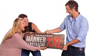 KALEA Männerhandtasche XXL, 12 Biere von Privatbrauereien, hochwertig bedruckter Karton mit Tragegriff, Biergeschenk für Männer und Frauen - 4