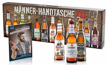 KALEA Männerhandtasche XXL, 12 Biere von Privatbrauereien, hochwertig bedruckter Karton mit Tragegriff, Biergeschenk für Männer und Frauen - 1