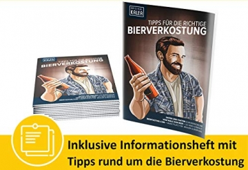KALEA Männerhandtasche XXL, 12 Biere von Privatbrauereien, hochwertig bedruckter Karton mit Tragegriff, Biergeschenk für Männer und Frauen - 5