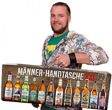 KALEA Männerhandtasche XXL, 12 Biere von Privatbrauereien, hochwertig bedruckter Karton mit Tragegriff, Biergeschenk für Männer und Frauen - 7