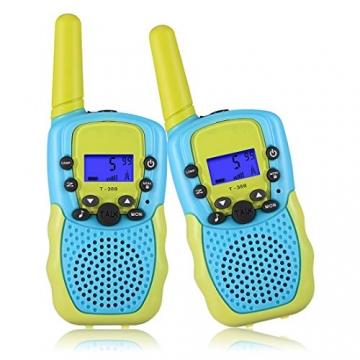 Kearui Spielzeug 3-12 Jahren Junge, Walkie Talkies für Kinder 8 Kanal Funkgerät mit Hintergrundbeleuchteter LCD-Taschenlampe, 3 Meilen Reichweite für Abenteuer im Freien, Camping, Wandern - 2
