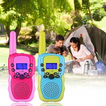 Kearui Spielzeug 3-12 Jahren Junge, Walkie Talkies für Kinder 8 Kanal Funkgerät mit Hintergrundbeleuchteter LCD-Taschenlampe, 3 Meilen Reichweite für Abenteuer im Freien, Camping, Wandern - 5