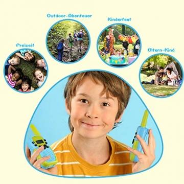 Kearui Spielzeug 3-12 Jahren Junge, Walkie Talkies für Kinder 8 Kanal Funkgerät mit Hintergrundbeleuchteter LCD-Taschenlampe, 3 Meilen Reichweite für Abenteuer im Freien, Camping, Wandern - 6