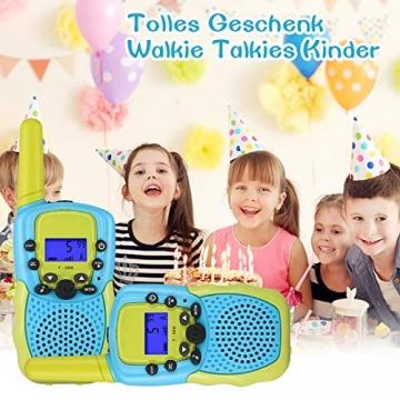Kearui Spielzeug 3-12 Jahren Junge, Walkie Talkies für Kinder 8 Kanal Funkgerät mit Hintergrundbeleuchteter LCD-Taschenlampe, 3 Meilen Reichweite für Abenteuer im Freien, Camping, Wandern - 7