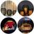 Kerzenständer Schwarz Oval 2er Set, 14 * 17/16 * 19cm, Vernetzartig aus Eisen, Kreativ Vintage Kerzen Ständer für Weihnachts Hochzeit Essen - 3