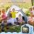 """Kinder Kamera, 2.0""""Display 1080P HD GREPRO Digitalkamera für 4 5 6 8 7 9 10 Jahre alt mädchen und Jungen, Anti-Drop Fotoapparat Kinder für Geburtstagsspielzeug Geschenke mit Weiche Silikonhülle Blau - 3"""