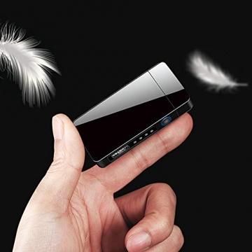 KIPIDA USB Elektronische Feuerzeug, Lichtbogen Feuerzeug, Touchscreen Elektro Feuerzeug LED Dual Lichtbogen ARC Feuerzeug mit Batterieanzeige Winddicht Plasma Feuerzeug für Männer Damen Geschenk - 6