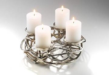Kobolo Deko-Kranz Adventskranz aus Metall für 4 Kerzen - 3