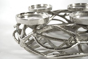 Kobolo Deko-Kranz Adventskranz aus Metall für 4 Kerzen - 5