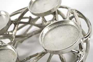 Kobolo Deko-Kranz Adventskranz aus Metall für 4 Kerzen - 6