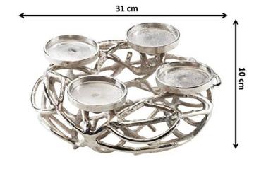 Kobolo Deko-Kranz Adventskranz aus Metall für 4 Kerzen - 7