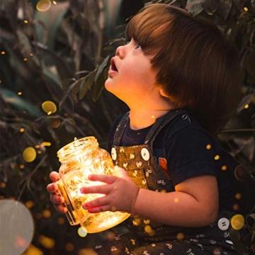 Koopower 2 Stk 100er LED Lichterkette Batterie mit Fernbedienung & Timer, 8 Modi IP65 Wasserdicht, Sternen Lichterketten für Weihnacht,Hochzeit,Party,Garten und Haus Deko-Warmweiß, 2er, HG4020 - 7