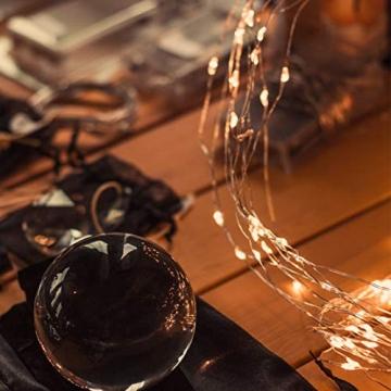 Koopower 2 Stk 100er LED Lichterkette Batterie mit Fernbedienung & Timer, 8 Modi IP65 Wasserdicht, Sternen Lichterketten für Weihnacht,Hochzeit,Party,Garten und Haus Deko-Warmweiß, 2er, HG4020 - 8