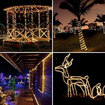 LE 10m LED Lichterschlauch 240 LEDs wasserfest Warmweiß für Innen Außen Party Hochzeit Weihnachten Dekolicht Warmweiß - 5