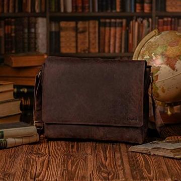 LEABAGS Oxford Umhängetasche Laptoptasche 15 Zoll aus Leder im Vintage Look, Maße (BxHxT): ca. 38x31x10 cm, Braun Like Muskat - 6