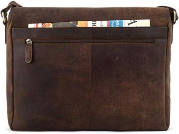 LEABAGS Oxford Umhängetasche Laptoptasche 15 Zoll aus Leder im Vintage Look, Maße (BxHxT): ca. 38x31x10 cm, Braun Like Muskat - 8