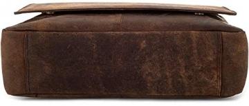 LEABAGS Oxford Umhängetasche Laptoptasche 15 Zoll aus Leder im Vintage Look, Maße (BxHxT): ca. 38x31x10 cm, Braun Like Muskat - 9