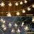 Led Lichterkette,Schneeflocke Lichterketten,Weihnachten Lichterkette 6M 40LED Warmweiß Lichterkette Weihnachtsbaum Stimmungslichte für Hochzeit Party Innen Außen Decoration Sterne Lichterkette - 4