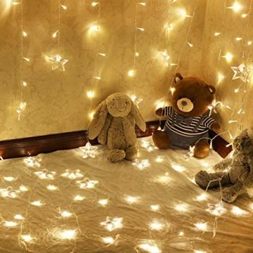 LED Vorhang Lichter USB Starry Lichterketten 1,5 m * 0,5 m 8 Modi Fernbedienung Sterne Lichterketten für Hochzeit Schlafzimmer Party Fenster Home Decoration - 2