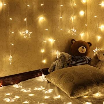 LED Vorhang Lichter USB Starry Lichterketten 1,5 m * 0,5 m 8 Modi Fernbedienung Sterne Lichterketten für Hochzeit Schlafzimmer Party Fenster Home Decoration - 3