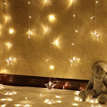 LED Vorhang Lichter USB Starry Lichterketten 1,5 m * 0,5 m 8 Modi Fernbedienung Sterne Lichterketten für Hochzeit Schlafzimmer Party Fenster Home Decoration - 4