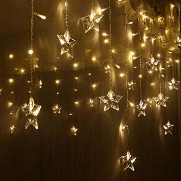 LED Vorhang Lichter USB Starry Lichterketten 1,5 m * 0,5 m 8 Modi Fernbedienung Sterne Lichterketten für Hochzeit Schlafzimmer Party Fenster Home Decoration - 5