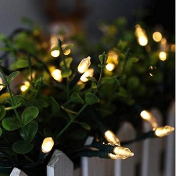 LED Weihnachten Lichterkette, KooPower 11M 100 Warmweiß Lichterketten Batterie mit 9 Modi Timer IP65 Wasserdicht Lichterkette Außen für Innen Außen Hochzeit Party Haushalt Zimmer Garten Halloween Deko - 5