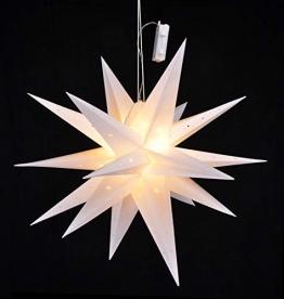 LED Weihnachtsstern 58 cm mit Auto Timer - Batterie betrieben - LED Stern zu Weihnachten zum aufhängen Fensterdeko - 1