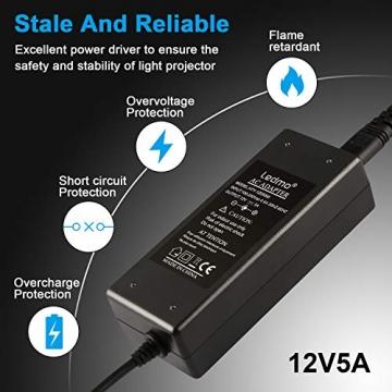 LEDMO 12V 5A 60W LED Netzteil Adapter Transformator,Ladegerät,Trafo für LED Stripes Streifen lichtband band stripe warmweiß weiß SMD 5050/3528/5630 - 2