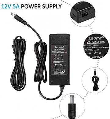 LEDMO 12V 5A 60W LED Netzteil Adapter Transformator,Ladegerät,Trafo für LED Stripes Streifen lichtband band stripe warmweiß weiß SMD 5050/3528/5630 - 8
