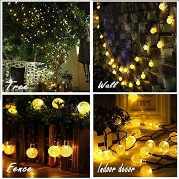 Leds Globe Lichterkette, Partybeleuchtung Außen,Warmweiße Kugel Lichterkette, Ideal Weihnachtsbeleuchtung für Innen, Zimmer,IP65 (Warm White, 10m/ 80 Lichter/Batteries) - 4