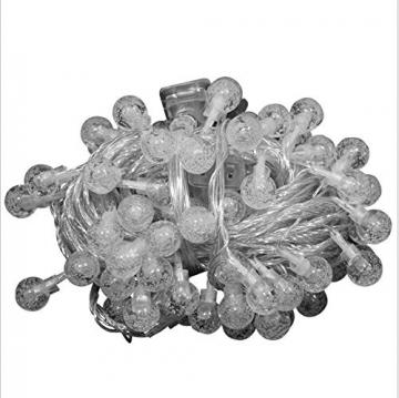 Leds Globe Lichterkette, Partybeleuchtung Außen,Warmweiße Kugel Lichterkette, Ideal Weihnachtsbeleuchtung für Innen, Zimmer,IP65 (Warm White, 10m/ 80 Lichter/Batteries) - 7